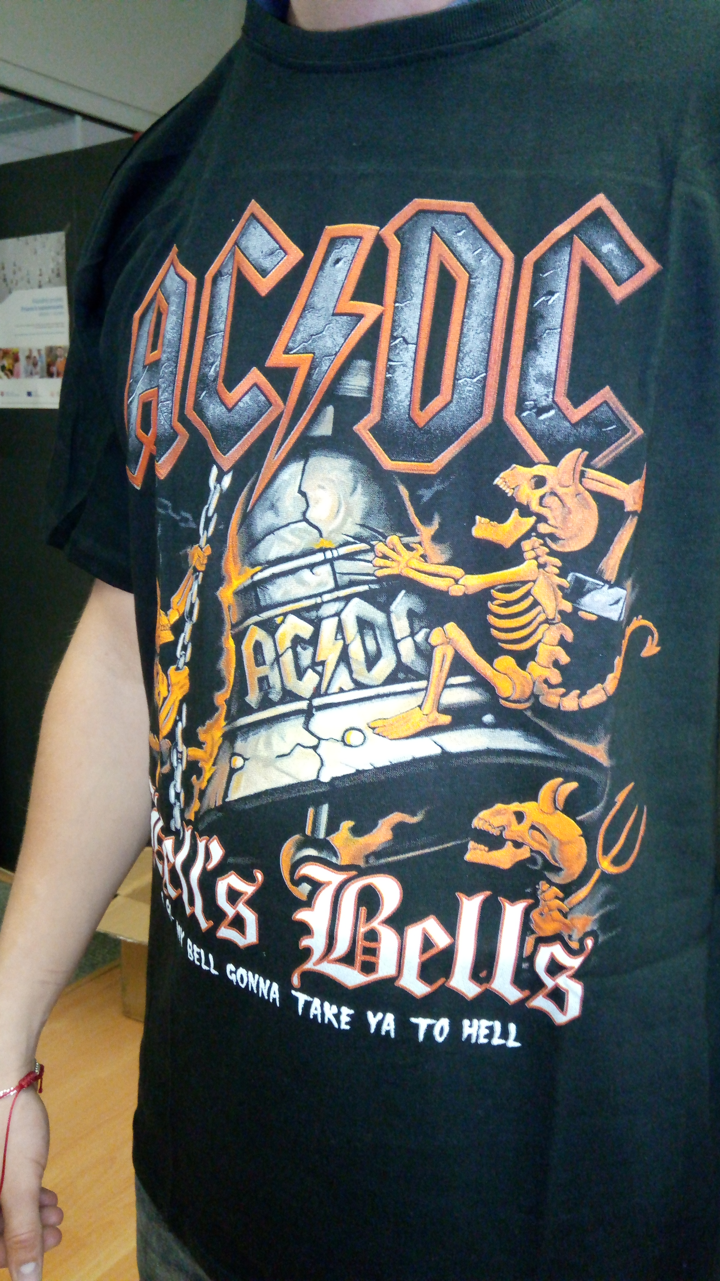 c9ee8c33a0 PÁNSKE METALOVÉ TRIČKO ACDC bells