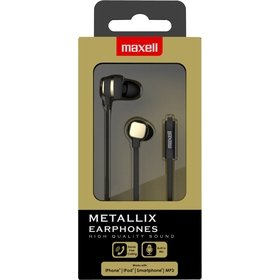 303789-790-791 METALLIX EARPHONES  MAXELL